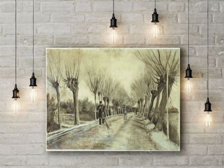 Vincent Van Gogh: Road in Etten. Fine Art Canvas.